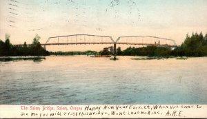 Oregon Salem The Salem Bridge 1906