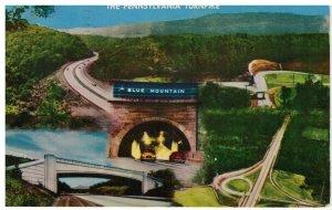 Postcard - Pennsylvania Turnpike Worlds Greatest Highway Blue Mountain