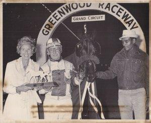 GREENWOOD RACEWAY, Harness Horse Race, LUANNE'S JEWEL Wins, Mrs. Charles Baker