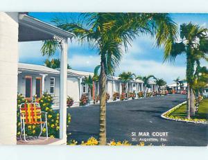 Unused Pre-1980 SI MAR MOTEL St. Augustine Florida FL n8191