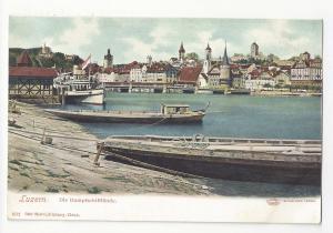 Switzerland Lucerne Luzern Dampfschifflande Steamship Vtg UDB Postcard c 1905