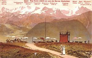 Switzerland Old Vintage Antique Post Card Rigi Kulm und die Berner Hochalpen ...