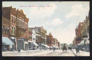 BOONE IOWA DOWNTOWN STORY STREET SCENE VINTAGE POSTCARD STORES