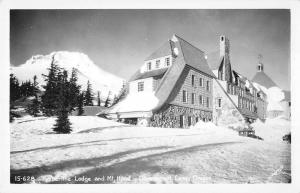 Government Camp Oregon Timberline Mt Hood Real Photo Antique Postcard K36607