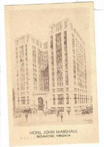Exterior,Hotel John Marshall,Richmond,Virginia,PU-1937