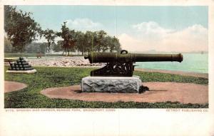 BRIDGEPORT, CT Connecticut   SPANISH WAR CANNON~Seaside Park   c1900's Postcard