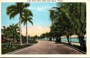 Florida West Palm Beach Lake Front Drive 1928