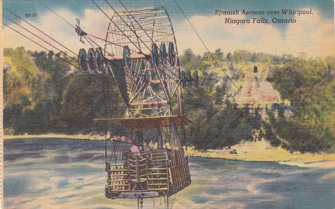 Spanish Aerocar over Whirlpool - Niagara Falls, Ontario, Canada - Linen