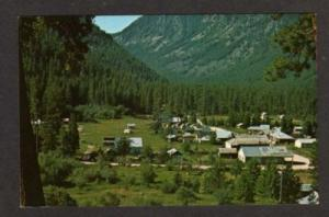 ID View of the Village of YELLOW PINE IDAHO Postcard PC
