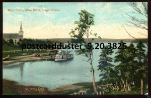3825 - MIRA RIVER NS Postcard 1908 Cape Breton. Mira Ferry