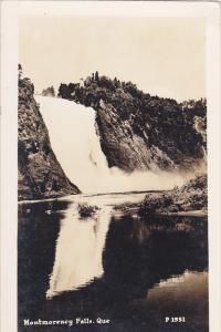 RP: Montmorency Falls , Quebec , Canada , 1930s