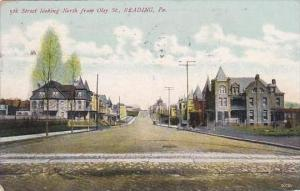 Pennsylvania Reading 5th Street Looking North From Oley Street 1907