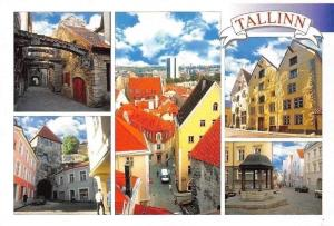 Tallinna Vanalinn, Talinn Old Town Street Fountain Cars Panorama