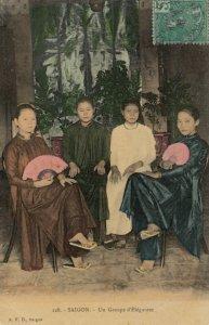 SAIGON , Viet Nam , 1908 ; Un Groupe d'Elegantes