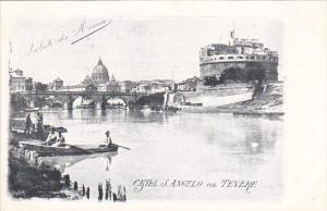 Italy Roma Rome Castel San Angelo col Tevere