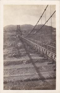 Panama Suspension Bridge Across Canal Real Photo
