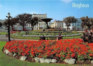 Brighton Old Steine Fountain and Gardens Bus Flowers Bench