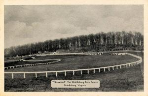 VA - Middleburg. Glenwood, the Middleburg Race Course