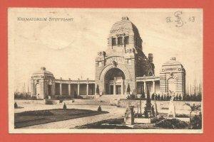 OLD POSTCARD - STUTTGART GERMANY - CREMATORIUM – 1908 REAL PHOTO