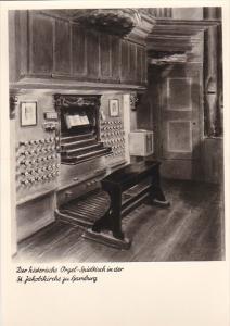 Germany Hamburg Orgel-Spieltisch St Jakobkirche Real Photo