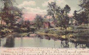 Maine East Auburn Bobbin Mill Brook 1907