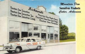 Cotter AR Sassafras Mountain Dew Products Tea Candy etc. Delivery Car Postcard