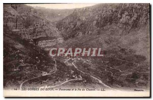 Old Postcard The Gorges du Loup and Panorama Peak Cheiron