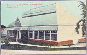 DAYTON - NATIONAL MILITARY HOME...View shows the Conservatory Building 1912