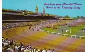 Kentucky Louisville Greetings From Churchill Downs Home Of Kentucky Derby 1958