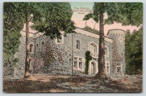 East Walpole Massachusetts~Isaac Newton Lewis Castle~built 1879~c1910 Handcolor