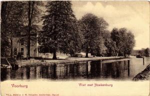 CPA VOORBURG Vliet met Hoekenbrug NETHERLANDS (602721)