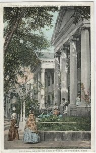 NANTUCKET , Massachusetts , 1910-30s; Colonial Games on Main Street