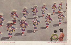 Dancers in a procession , Japan , 1930s