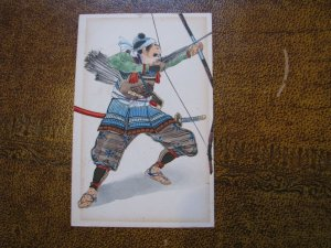 Vintage Japan Postcard Samurai Warrior Undivided Back - Read Descripton