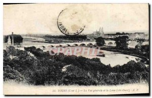 Old Postcard General view and Tours Loire