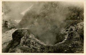 Portugal - Azores, St Michaels. 1957-58 Volcanic Eruption of Capelinhos.  *RPPC