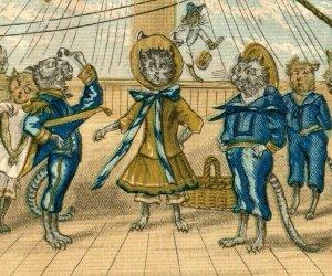 1870's Academy Of Music Little Cats & Kittens Opera Pinafore Cat Sailors P165
