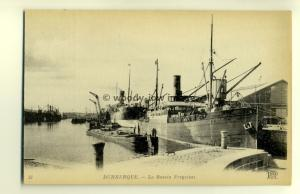 ft1199 - Cargo Ship Tiber & others in Dunkerque Harbour, France - postcard