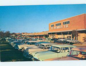 Unused 1950's OLD CARS AT JC PENNEY STORE Raleigh North Carolina NC hn3277-45
