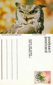 Reuse-ooruil / Giant Eagle Owl , South West Africa , 50-60s