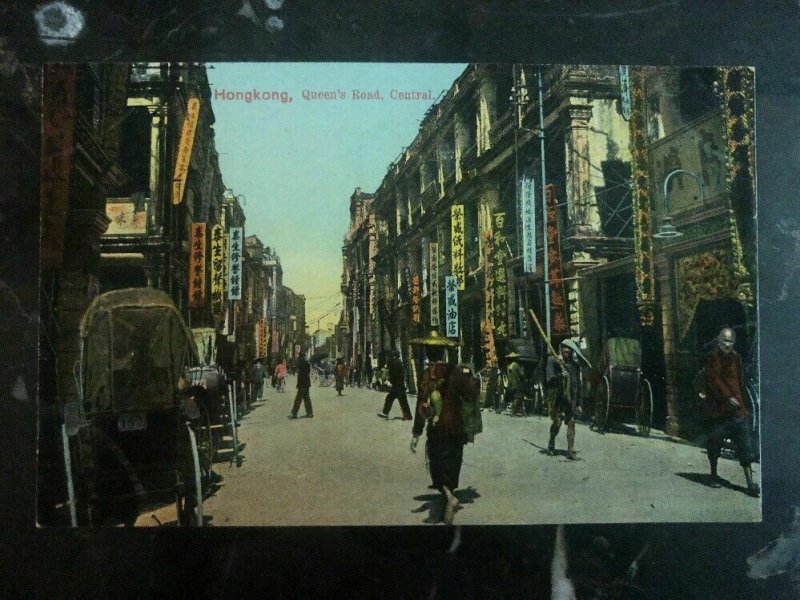 Mint Hong Kong ReAl Picture Postcard Queens Road Central
