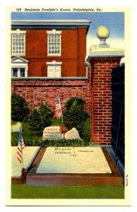 PA - Philadelphia. Benjamin Franklin's Grave