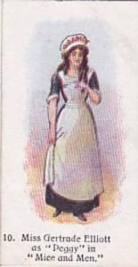 Player Vintage Cigarette Card Players Past & Present 1916 No 10 Miss Gertrude...