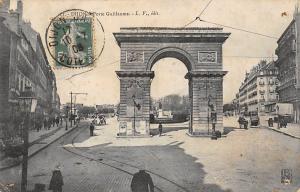 France Dijon Porte Gaillaume Arch Cyclist Statue