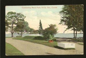 Postmark 1910 Orillia Ont Couchiching Beach Park Valentine Postcard