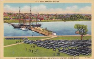 Military South Drill Field U S S Constellation At Wharf U S Navala Training S...