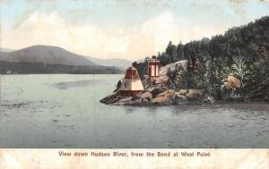 USA View down Hudson River, from the Bend at West Point postcard
