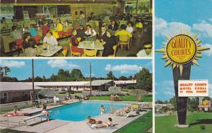 Swimming Pool,  Quality Courts Motel Coral & Restaurant,  Rocky Mount,  North...