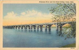 Arkansas River 21st St Bridge, Tulsa Oklahoma OK