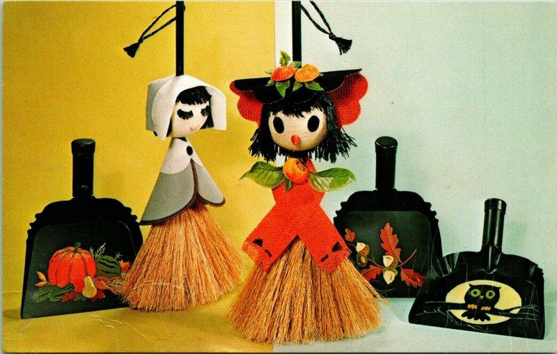 Vtg Publicidad PC Nacional Artesanía Institute Vera Voo-Doo Halloween Escoba
